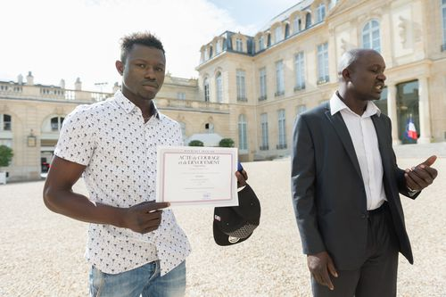 Originally from Mali, Mr Gassama is now looking forward to a new life in France. Picture: PA