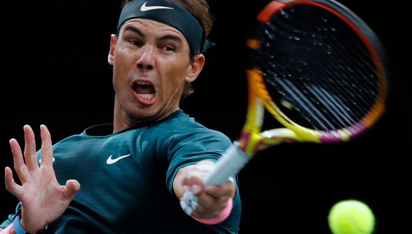 Rafael Nadal has beaten Jordan Thompson at the Paris Masters.