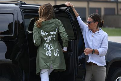 "<p><a href=""https://style.nine.com.au/2016/11/09/18/17/melania-trump-first-lady-style"" target=""_blank"" draggable=""false"">Melania Trump</a> made headlines around the world last week when she stepped out in a <a href=""https://style.nine.com.au/2018/06/21/11/50/meghan-markle-winter-dressing-wardrobe-coat"" target=""_blank"" draggable=""false"">jacket</a> which read ""I really don't care, do u?"", as she made her way to meet migrant children separated from their parents at the border in Texas.</p> <p>Social media went into meltdown with criticism over the offensive Zara jacket, and possible interpretations of the writing.</p> <p>Was it a lack of compassion for the immigration issue at large, was it a message to her husband, or simply a really poor choice of wardrobe? </p> <p>As the First Lady is yet to comment, we're still none the wiser as to who the mum of one was sending the message to, what we do know is that she's not the first A-lister who has used fashion to get her point across.</p> <p>Click through to take a look at other celebrities who have used their platform to send a political message.</p>"