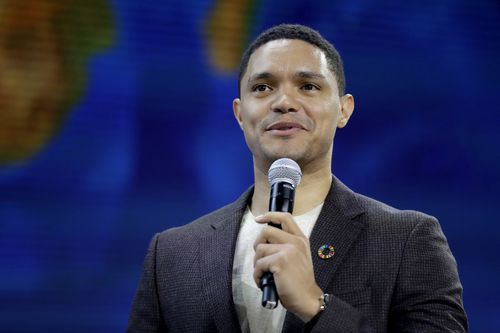 The Daily Show host Trevor Noah also hit out at the country's inaction on guns. (AAP)