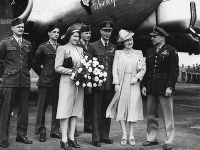 King George VI, Queen Elizabeth and Princess Elizabeth, 1944