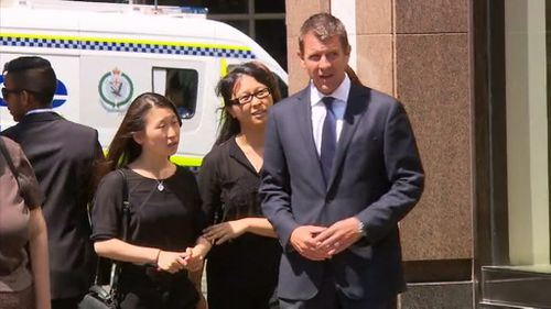 NSW Premier Mike Baird attended Mr Johnson's funeral.