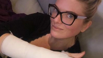 Erin Molan fractured hand