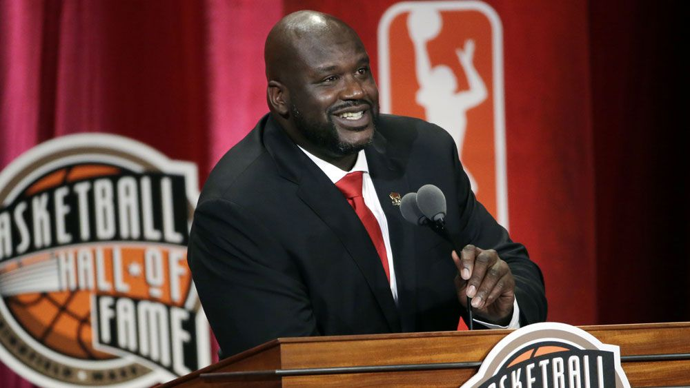 Shaquille O'Neal has been inducted into the Hall of Fame. (AAP)