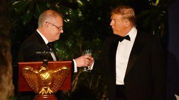 ScoMo and Trump share 'mateship' toast