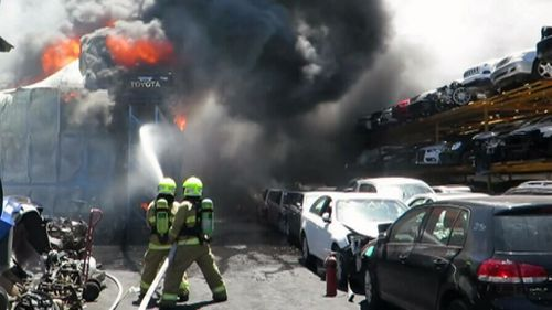 It took firefighters more than four hours to bring the fire under control. (9NEWS)