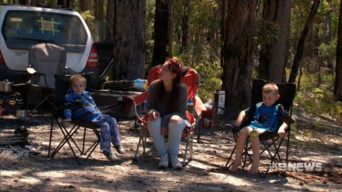 Janaya Brooking and her two sons spent 12 hours lost in the bush.
