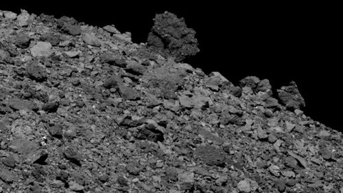 OSIRIS-REx captured this image of the asteroid Bennu on April 12, 2019.