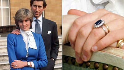 Princess Diana's sapphire cluster ring