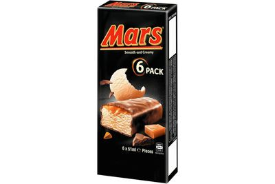 Mars Bar Ice-Cream: 13g sugar — more than 3 teaspoons