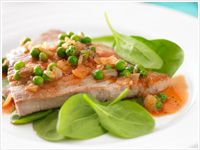 Italian-Style tuna with peas