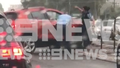 Passersby captured intense scenes as officers smashed through the car's windscreen to arrest the man on Princes Highway Gymea.