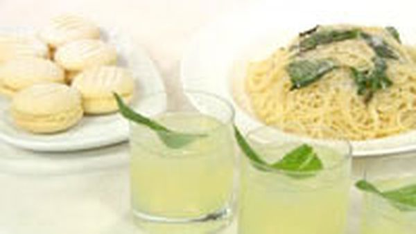 Lemonade, lemon melting moments and lemon pasta