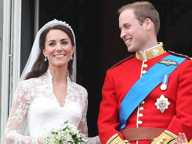 Prince William and Kate Middleton at their 2011 Royal Wedding