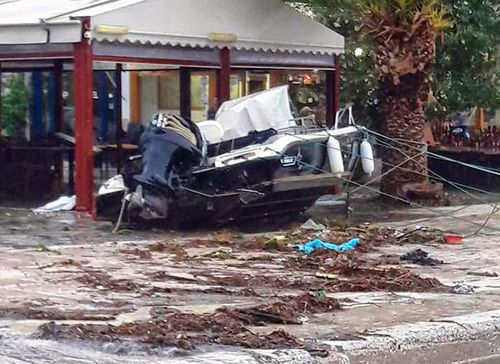 "Rare Mediterranean storm ""Zorba"" has already wrecked havoc in the seaside town of Peloponnese."