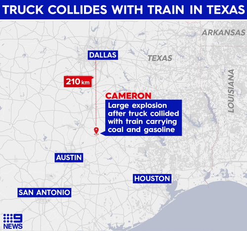 Texas collision on February 24, 2021.