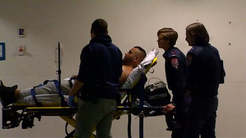 A manhunt is underway for a shooter in Melbourne's north after a man was shot in the stomach. (9NEWS)