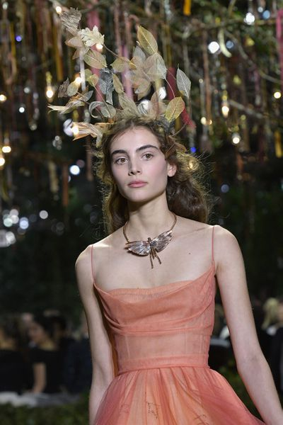 <p>Christian Dior Haute Couture Spring 2017.</p> <p>Peachy blush shades that all things romantic. Think 50's prom nights and country balls.</p>