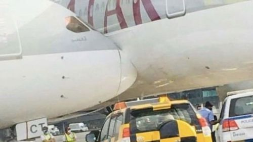 Two planes have collided at Doha Airport in Qatar.