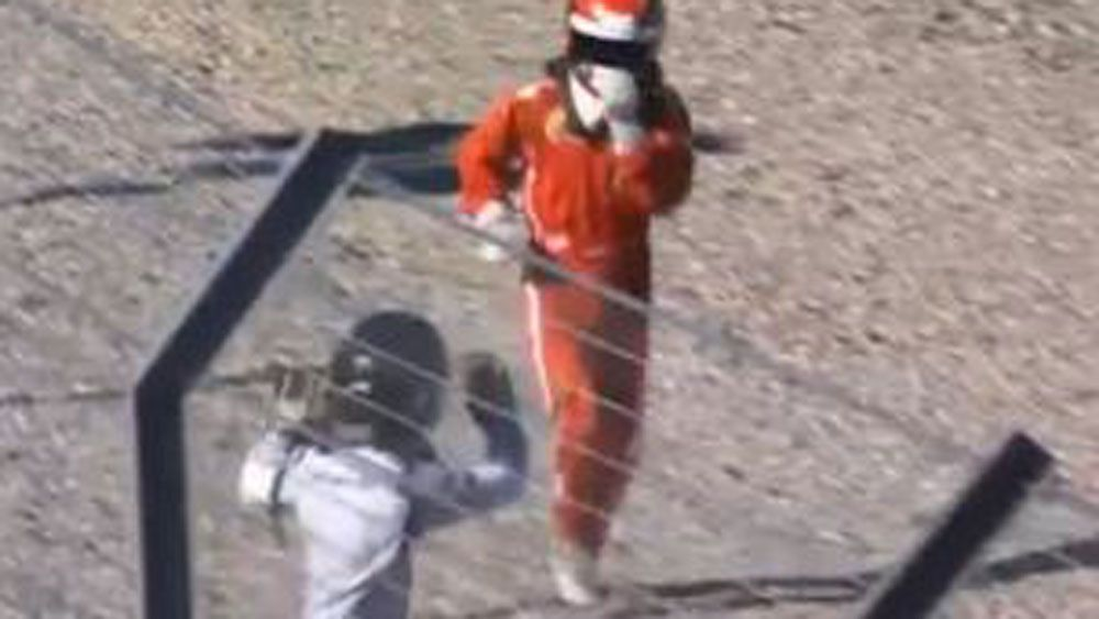 Threat of violence see motorsport race go from horsepower to man power