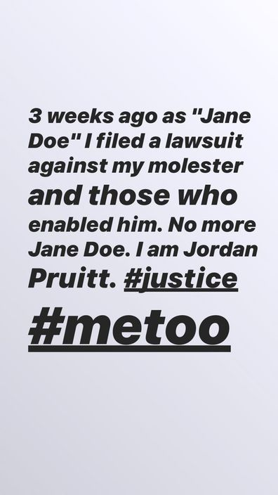 Jordan Pruitt's Instagram Stories statement