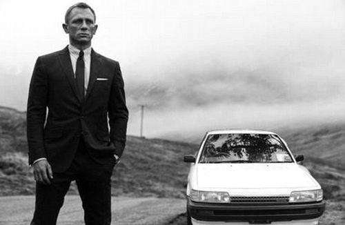 The Toyota Camry alongside James Bond. (Gumtree)