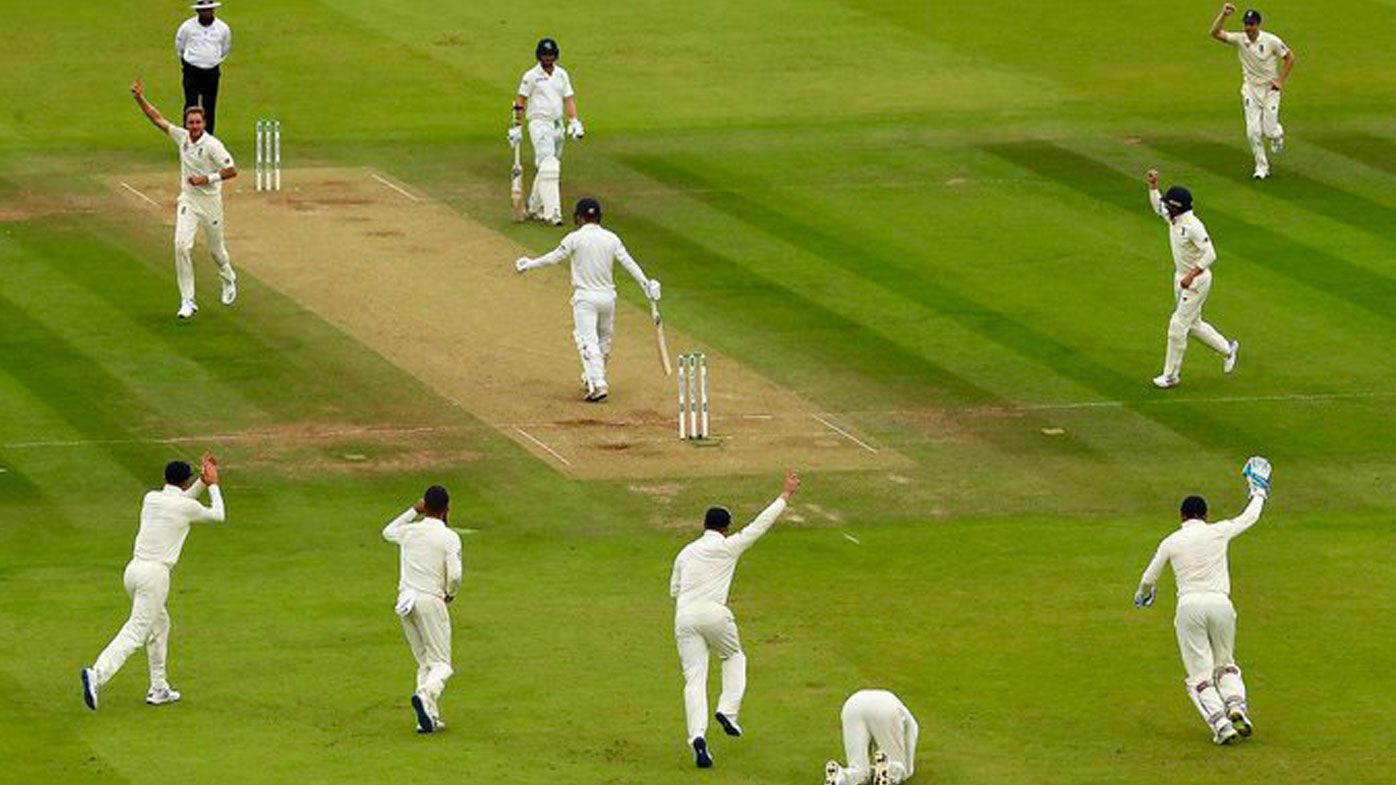 England celebrate another wicket against Ireland