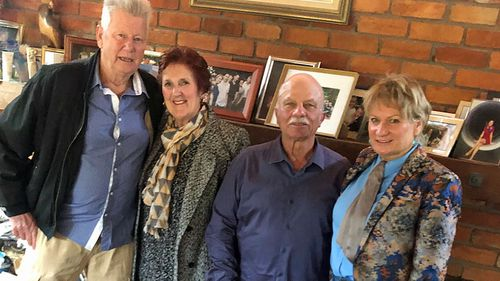 Peter Todd (left) with his wife Pam, Vic Romano and Brenda Edgar.