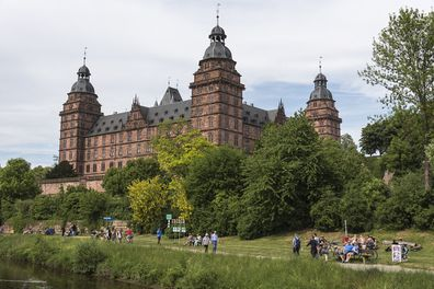 View from from the Main river of Schloss Johannisburg in Aschaffenburg, Germany.
