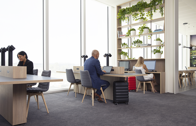 Virgin Australia Adelaide lounge, 'The Library' working hub
