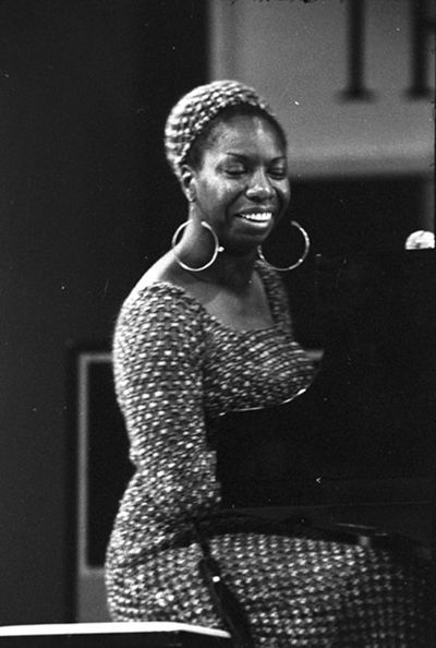 Singer Nina Simone in the 1950s.