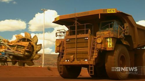 The state government has urged for calm as mining jobs dry up. (9NEWS)