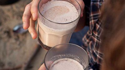 "Recipe: <a href=""https://kitchen.nine.com.au/2016/05/16/10/15/boozy-hot-chocolate"" target=""_top"">Boozy hot chocolate</a>"