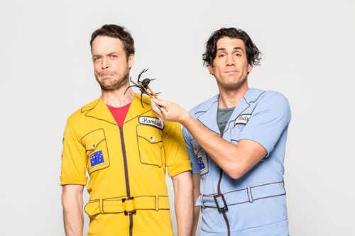 Our favourite comedy pranksters Hamish and Andy brought the year to a spectacular end with a special performance. (AAP)
