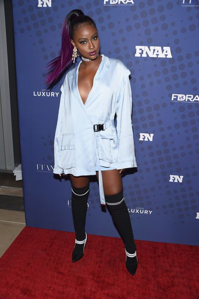 Justine Skye in Public School at the FN Achievement Awards in New York.