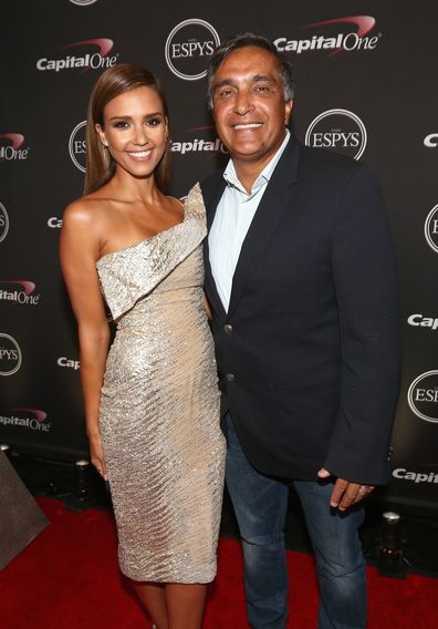 Jessica Alba has expressed her support for her father Mark Alba as he battles thyroid cancer.