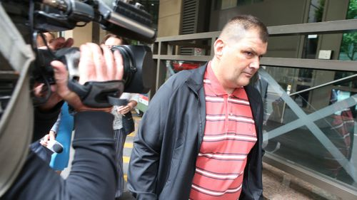 Michael Rogers, known as  'Trolley Man', spoke briefly outside the Melbourne Magistrates' Court today.
