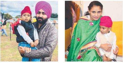 Deceased couple Swarnjit Singh Grewal and Amandeep Kaur Grewal with their son.