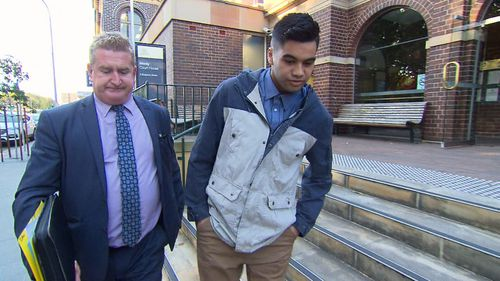 Mr Moana walked free from court, and will be assessed for home detention. Picture: 9NEWS