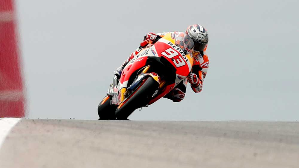 Marc Marquez has grabbed pole in Texas. (AAP)