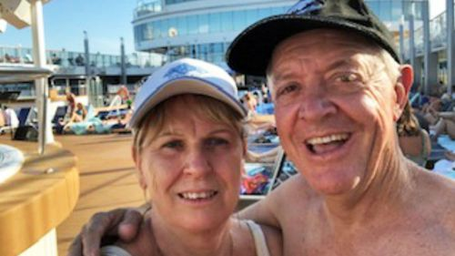 Debbie and Glenn Wicks, from Newcastle in NSW, are on board the Norwegian Jewel.