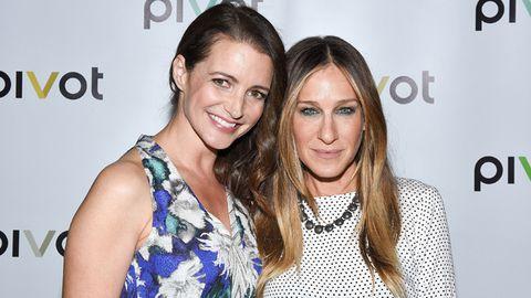 Kristin Davis and Sarah Jessica Parker
