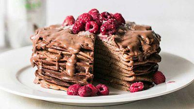 "Recipe:<a href=""http://kitchen.nine.com.au/2016/05/05/12/43/buckwheat-chocolate-pancakes"" target=""_top"">Buckwheat chocolate pancakes</a>"