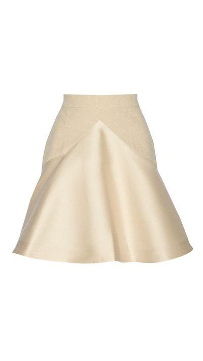 """<a href=""""http://www.theoutnet.com/en-AU/product/Stella-McCartney/Lesley-slub-cotton-blend-and-satin-skirt/552436"""">Lesley Slub Cotton-Blend and Satin Skirt, approx. $423, Stella McCartney</a>"""