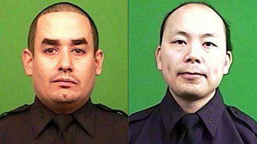 Slain officers Rafael Ramos, pictured left, and Wenjian Liu.