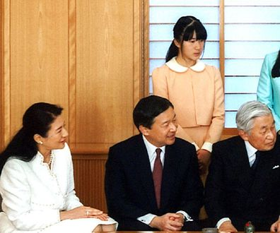 Princess Aiko pictured top left is not eligible to ascend to the throne in Japan.