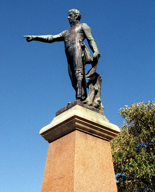 The Colonial William Light statue has been vandalised twice.