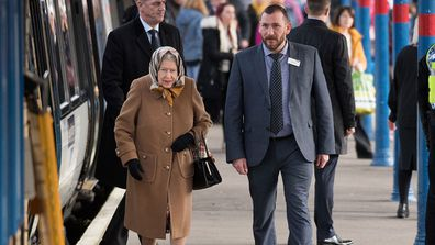 Queen Elizabeth arrives at Sandringham
