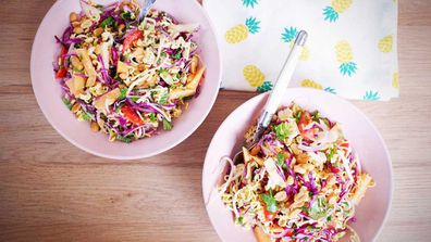 Crunchy, pantry staple two-minute noodle salad