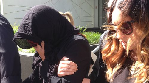 Janet Kirby leaving WA District Court on Tuesday. (AAP)